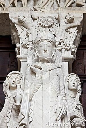 St-Lazare detail of Last Judgment Portal