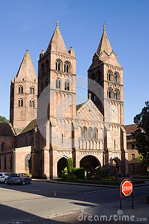 The St. Leger church in Guebwiller city, France