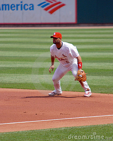 St. Louis Cardinal First Baseman Albert Pujols Editorial Stock Photo