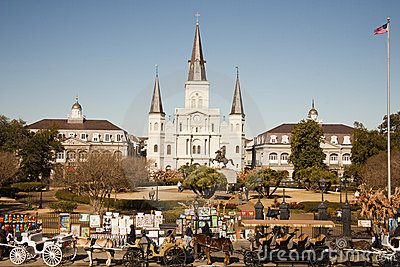 St Louis Cathedral with tourist Editorial Image
