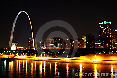 St. Louis Skyline Reflection