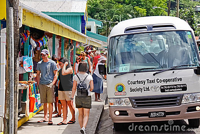 St Lucia - Anse La Raye Souviner Einkaufen Redaktionelles Stockfotografie