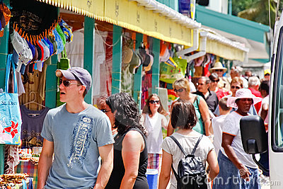St. Lucia - Caribbean Souviner Shopping Editorial Stock Photo