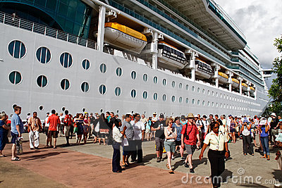 St. Lucia Cruise Ship Passengers Editorial Image