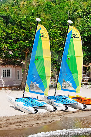 St. Lucia - Hobie Cat Sailboats Editorial Image