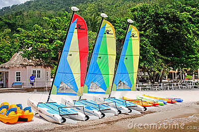 St. Lucia - Jalousie Beach Fun Awaits You! Editorial Photo