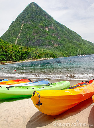 St. Lucia - Kayaking the Pitons Editorial Image
