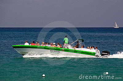 St. Lucia - Speed Boat Tour Fun Editorial Photography