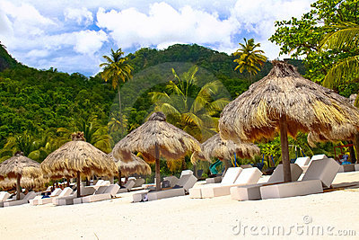 St. Lucia - Your Tropical Escape Awaits... Editorial Stock Photo