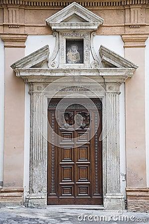 St. Margherita Convent. Wooden Portal.Umbria.