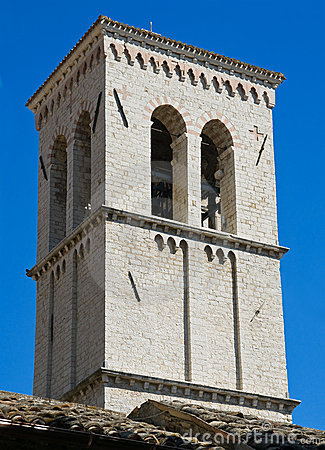 Free St. Maria Maggiore Belltower Church. Assisi. Royalty Free Stock Image - 16247626
