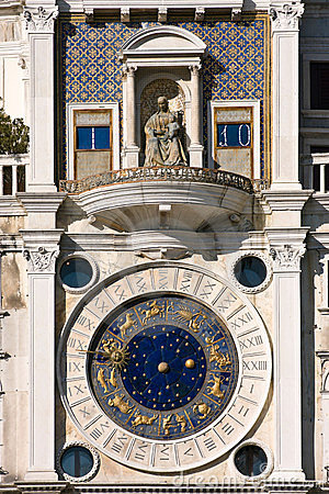 St. Mark s square clock tower in Venice