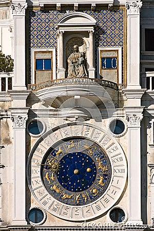 St. Mark s square clock tower in Venice