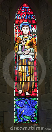 Free St. Mark Stained Glass Royalty Free Stock Photo - 18056515