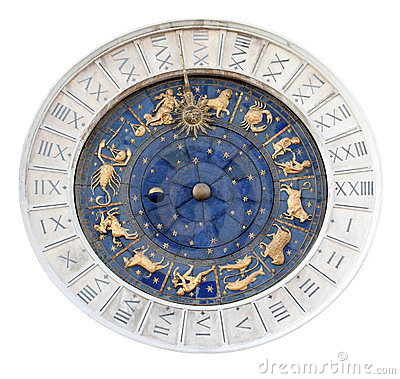 Free St Marks Astronomical Clock Isolated Royalty Free Stock Photo - 23567275