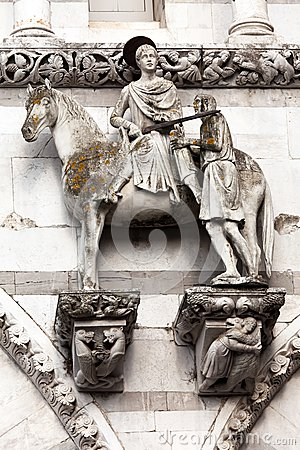 St. Martin on horseback