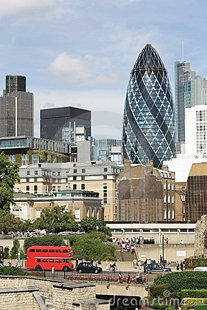 St.Mary Axe  (The Gherkin) Editorial Stock Photo