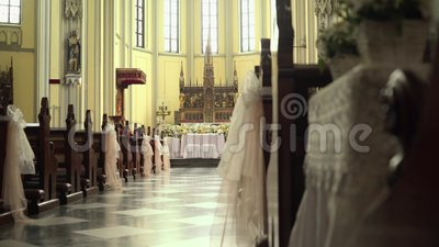 St Mary do interior da igreja da catedral da suposição, Jakarta filme