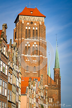 St. Mary Kościół w starym miasteczku Gdansk