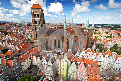 St. Mary s Cathedral in old town of Gdansk