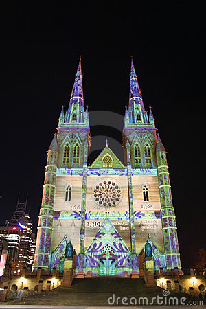 St Mary s Cathedral, Sydney, Australia Editorial Stock Photo