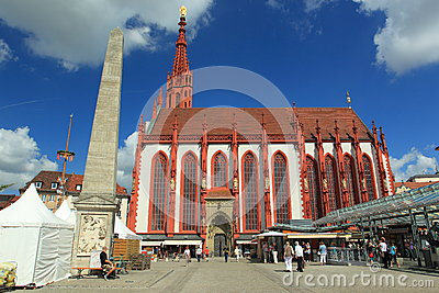 St. Mary s church in Wurzburg Editorial Stock Image
