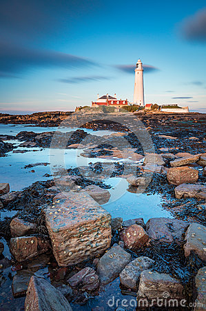 Free St Mary`s Lighthouse In Portrait Royalty Free Stock Images - 92031159