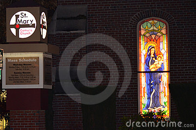 St. Mary's at night Editorial Stock Image