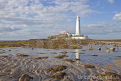 St. Mary's Lighthouse Stock Photo - Image: 15693110