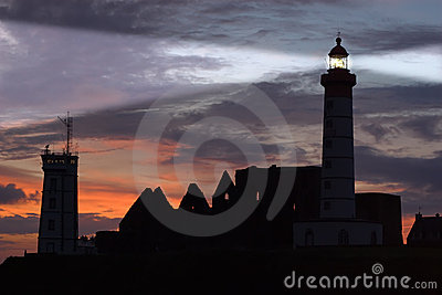 St Mathieu lighthouse at dusk