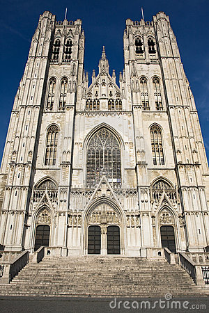 St. Michael and Gudula Cathedral.Brussels