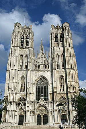 St. Michael and Gudula Cathedral.Brussels.Belgium