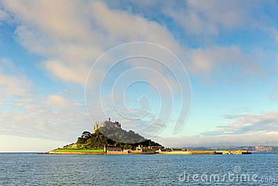 St Michaels Mount castle Cornwall England