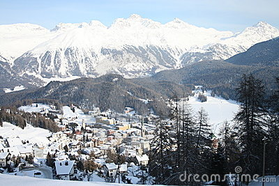 St Moritz in winter