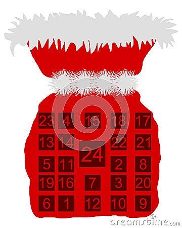 St Nicholas bag with Advent calendar