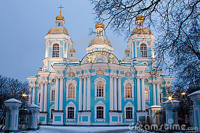 St. Nicholas cathedral in Saint-Petersburg