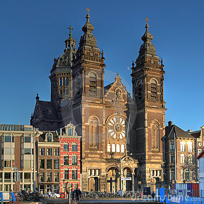 Free St Nicholas Church In Amsterdam, The Netherlands Royalty Free Stock Image - 22012146