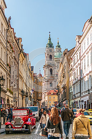 St. Nicholas Church in Prague Editorial Stock Photo