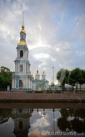 Free St. Nicholas Naval Cathedral In St.Petersburg Royalty Free Stock Photo - 26146815