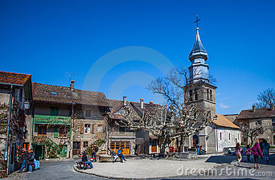 St Pancras Church, Yvoire , France Editorial Stock Image