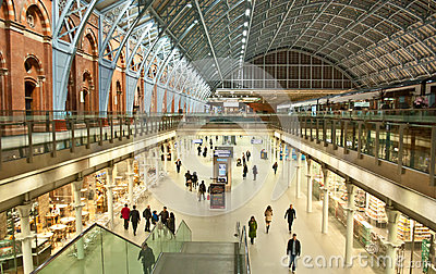 St.Pancras Station Editorial Photography