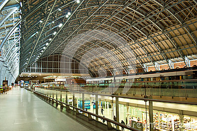 St.Pancras Station Editorial Stock Photo