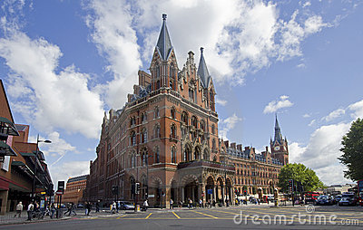 St. Pancras Station London Editorial Stock Image