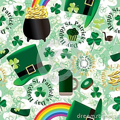 Free St. Patrick Day Green Seamless Pattern_eps Stock Image - 28686731