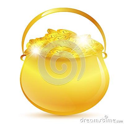 St.Patrick golden pot