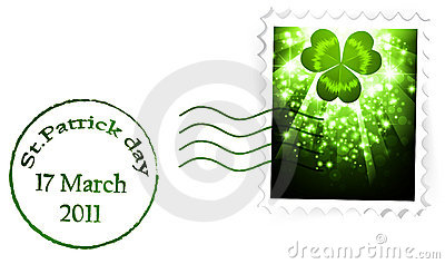 St.Patrick holiday postal stapm