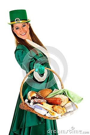 St Patrick holiday woman