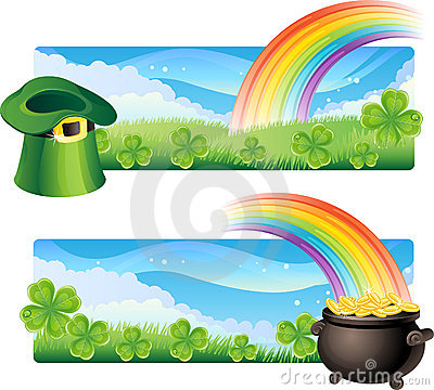 St. patrick s banners