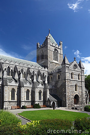 Free St. Patrick S Cathedral And Grass In Dublin Stock Photos - 18848983