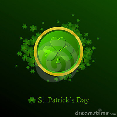 St. Patrick s day background in green colors